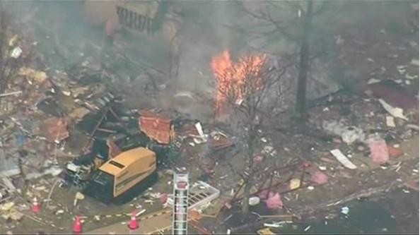 ABD'de doğalgaz patlaması:1 ölü,7 yaralı