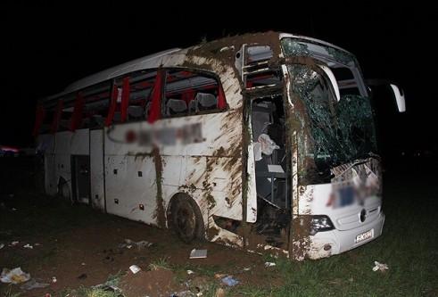 Afyonkarahisar'da trafik kazası:1 ölü, 23 yaralı