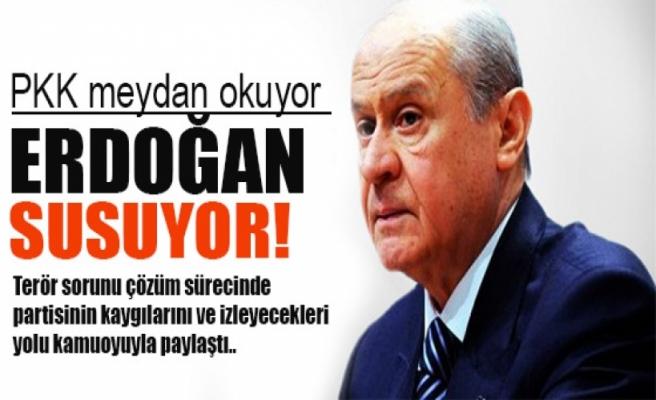 Bahçeli: PKK meydan okuyor, Erdoğan susuyor