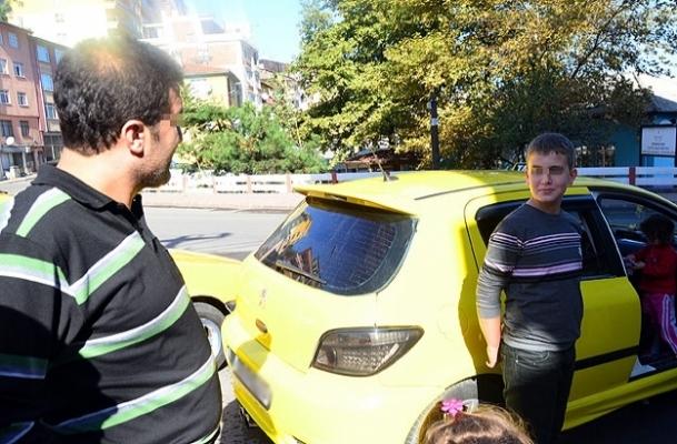 Çocuk şoför polise yakalandı