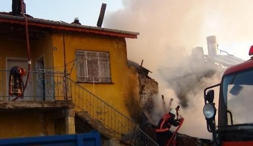 Elmadağ'da yangın
