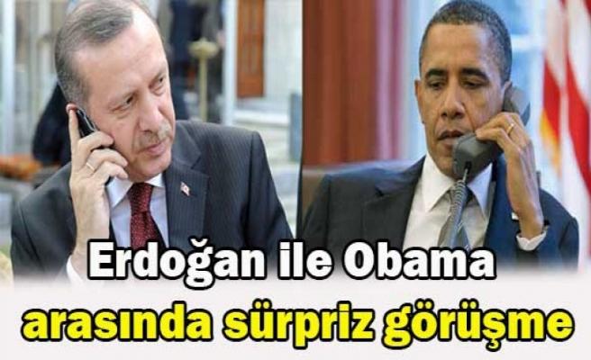 Erdoğan ile Obama  arasında sürpriz görüşme