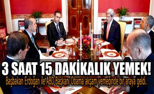 Erdoğan Obama ile 3 saat 15 dakikalık yemek yedi.