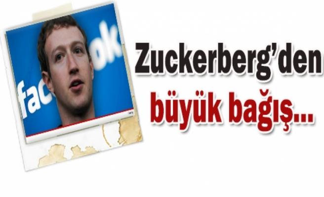 Facebook'un sahibinden büyük bağış