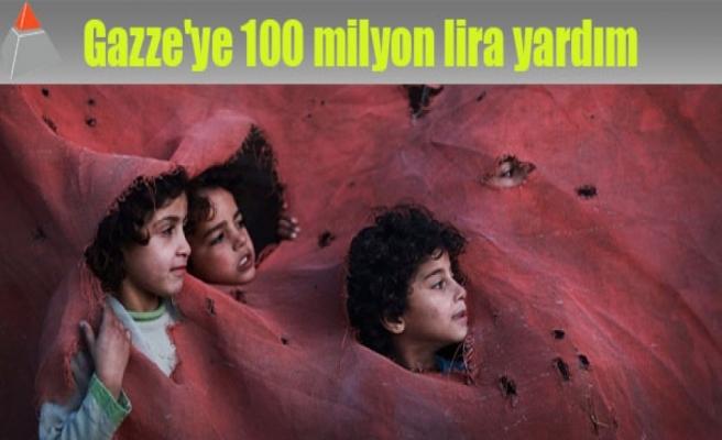 Gazze'ye 100 milyon lira yardım