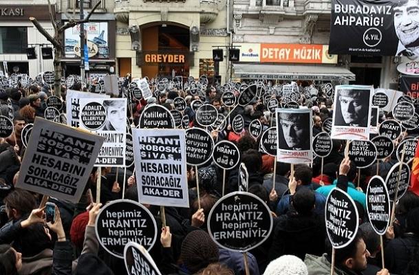 Hrant Dink için anma törenidüzenlendi