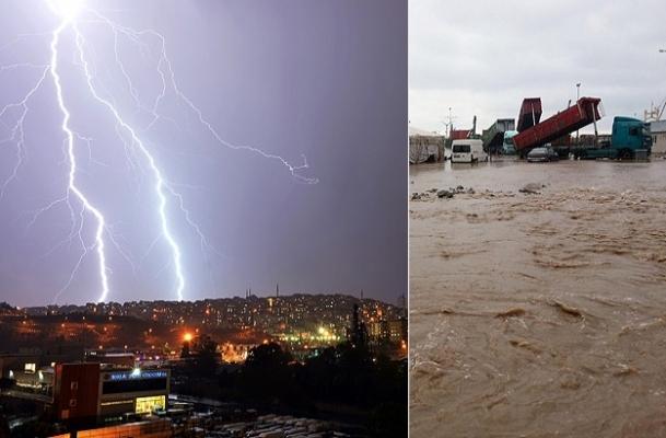 İstanbul ve Çanakkale yağmur altında