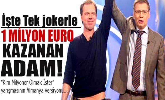 İşte tek jokerle 1 milyon euro kazanan adam