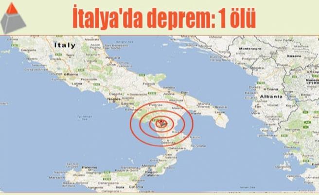 İtalya'da deprem: 1 ölü