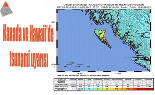 Kanada ve Hawaii'de tsunami uyarısı