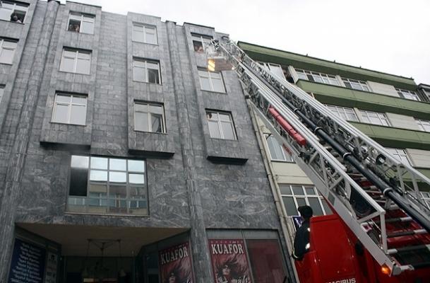 Karabük'te iş merkezinde yangın
