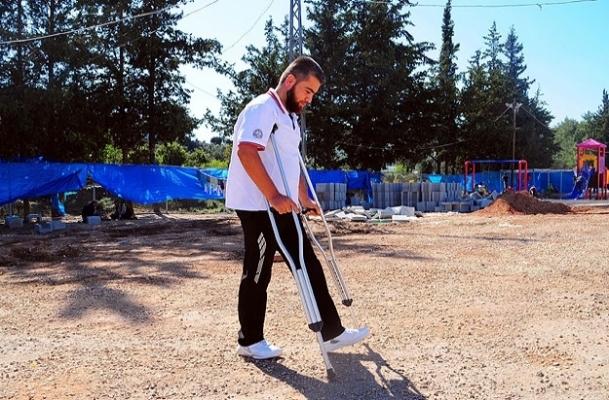 Kaybettiği bacağına Türkiye'de kavuştu