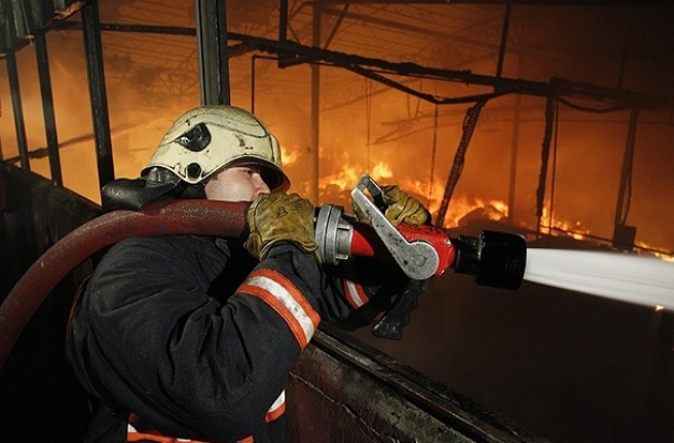Kumaş boyama fabrikasında yangın