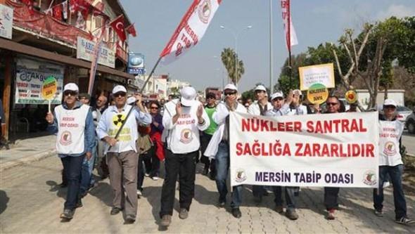Mersin'de nükleer santral yürüyüşü