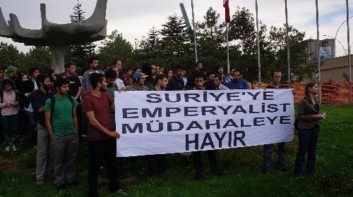 ODTÜ'lü öğrencilerden tezkere protestosu