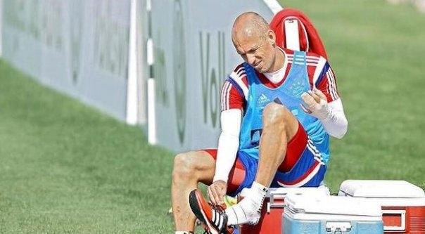 Robben'in timsah şakası