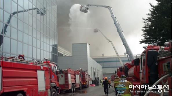 Samsung fabrikası yandı!