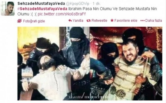 Şehzade öldürüldü, Twitter ayağa kalktı!