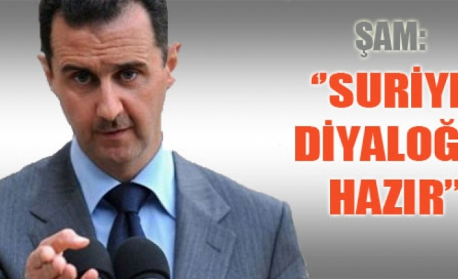 Suriye diyaloğa hazır