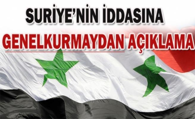 Suriye'den şok iddia!