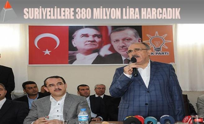 Suriyelilere 380 milyon lira harcadık