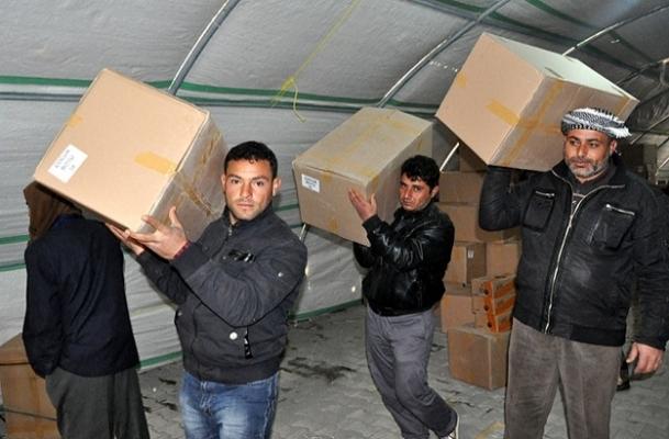 Suriye'ye gıda yardımı
