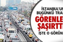 İstanbul'da trafik şuan böyle..