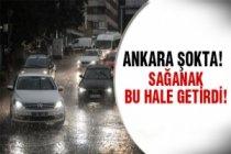 Ankara'da şok sağanak!