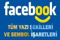Facebook Yazı Şekilleri ve Sembol İşaretleri