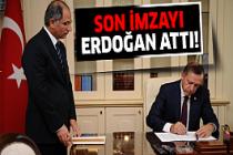 Erdoğan istifasını kabul etti!