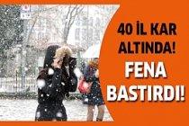 Dikkat! Kar İstanbul'a çok yaklaştı