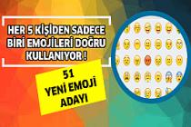 Her 5 kişiden biri emojileri doğru kullanıyor