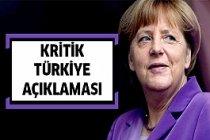 Merkel'den Önemli Türkiye Açıklaması !
