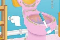 Ev yapımı tuvalet temizleyici hazırlama