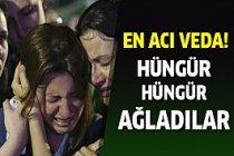 Hüngür hüngür ağladılar... En acı veda!