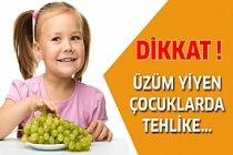 Üzüm Yiyen Çocuklarda O Tehlikeye Dikkat !