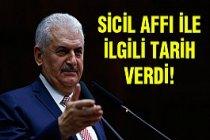 Başbakan Yıldırım'dan sicil affı açıklaması