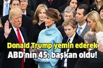 Donald Trump Resmen ABD'nin 45. Başkanı Oldu!