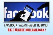 Facebook'ta Yalan Haber Butonu !