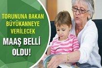 Torununa bakan büyükannelere verilecek maaş belli oldu!