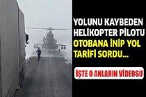 Askeri helikopter otobanda!
