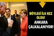 Erdoğan ve Yıldırım Merkel'e...