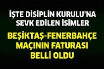 Fenerbahçe-Beşiktaş Maçında Disiplin Sevkleri Belli Oldu!