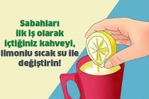 Sabahları Sıcak Su ve Limon