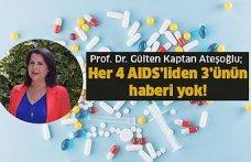 Her 4 AIDS'liden 3'ünün haberi yok!