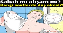 Bakın hangi saatlerde duş almalı?