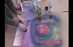 Sprey boya ile muhteşem sanat!