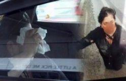 Uber şoförünün darp ettiği iddia edilen kadınla tartıştığı anlara ait görüntüler ortaya çıktı!