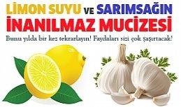 Limon suyu ve sarımsak gücü