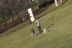 Kartal parktaki çocuğu kaçırmaya kalktı